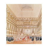 The Marriage of Napoleon and Marie-Louise in the Louvre Chapel Giclee Print by  Charles Percier and Pierre Fontaine