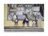Mule Drivers in a Store in the Principal Street of Bogota, 1840 Giclee Print by Joseph Brown