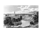 Salford from the Crescent, from 'Great Britain Illustrated', Engraved by Edward Francis, 1830 Giclee Print by William Westall