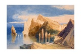 Cliffs on the North East Side of Point Lorenzo, Madeira Giclee Print by John Sell Cotman