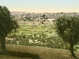 General View of Jerusalem from the East, C.1880-1900 Photographic Print