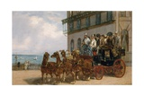 A Stagecoach Outside the Royal Albion Hotel, 1869 Giclee Print by H. J. Jones