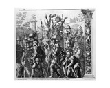 The Triumph of Caesar, Plate 6, Engraved by Robert Van Audenaerde, 1692 Giclee Print by Andrea Mantegna