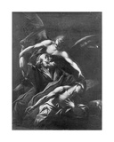 The Sacrifice of Isaac Giclée-tryk af Giovanni Lanfranco