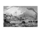Gravesend, Kent, Published 1831 Giclee Print by Thomas Mann Baynes