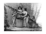 Hop Pickers, Engraved by William Dickinson, 1803 Giclee Print by Henry William Bunbury
