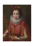 Portrait of a Lady, Traditionally Identified as Marie De' Medici, 1600-03 Giclee Print by Santi Di Tito