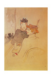 Two Women Sitting in a Cafe Lámina giclée por Henri de Toulouse-Lautrec