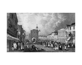 High Street, Maidstone, a Market Day, Engraved by S. Lacey, Published 1832 Giclee Print by George Sidney Shepherd