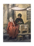 Letterwriting, 1858 Giclee Print by Amadeo Preziosi