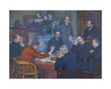 The Lecture by Emile Verhaeren Giclee Print by Théo van Rysselberghe