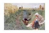 Our Daily Bread, 1886 Giclee Print by Anders Leonard Zorn