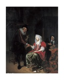The Doctor's Visit Giclee Print by Michiel Van Musscher