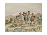 Bhotias from Mustang in the Province of Nari, Western Tibet, C.1855 Giclee Print by Dr. Henry Ambrose Oldfield