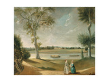 The Misses Garrick by the Thames at Hampton, 1762 Giclee Print by Johann Zoffany