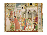 St. Augustine Is Led by His Parents at the School of Tagaste, from the Life of St. Augustine,… Giclee Print by Benozzo di Lese di Sandro Gozzoli