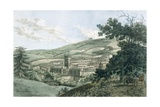 Bath, from the Private Road Leading to Prior Park, from 'A Picturesque Guide to Bath, Bristol… Giclee Print by  J. Hassell and J.C. Ibbetson