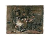 The Lawyer's Office' (Study) Giclee Print by Jan Theodore Toorop