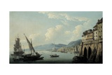 The Coast of Genoa, with the Lighthouse Giclee Print by John Thomas Serres