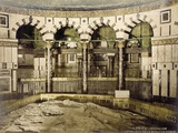 Interior of Dome of the Rock in Jerusalem with a View of the Rock, C.1880-1900 Photographic Print