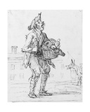Study of a Street Crier with a Donkey Giclee Print by Henry William Bunbury