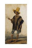 A Native Labourer from the Santa Ana Mines, 1830 Giclee Print by Joseph Brown