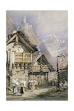 An Alpine Village Giclee Print by Samuel Prout