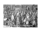 The Return of Cosimo I after His Coronation, Engraved by Philips Galle, 1583 Giclee Print by Jan van der Straet