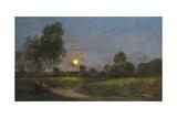 Moonrise, 1887 Reproduction procédé giclée par Charles Francois Daubigny