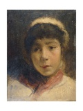 Girl in a White Cap, 1892 Giclee Print by Charles Gogin