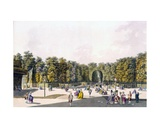 View of the 'Walk of Sighs' at Augarten, Vienna, 1790s Giclee Print by Johann Ziegler