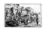 Country-Fair with Two Charlatans, C.1640-80 Giclee Print by Constantin Daniel van Renesse