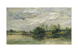 Un Coup De Vent (A Gust of Wind), 1875 Giclee Print by Charles Francois Daubigny