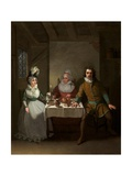 Bland, Booth; and Bannister in 'The Children in the Wood' by Morton, Haymarket Theatre, 1793 Giclee Print by Samuel de Wilde