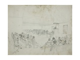 Courtroom Scene in Eastern Cape Province, 1849 Giclee Print by Thomas Baines