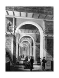 British Museum - Additional Library, Engraved by E. Radclyffe, Published in 'London Interiors',… Giclee Print by Llewellyn Jewitt