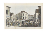 The Five Points, Junction of Baxter, Worth and Park Streets, New York Giclee Print by George Catlin