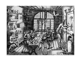 A Goldsmith's Workshop, 1576 Giclee Print by Etienne Delaune