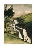 Falls the Beraiza Near Debra Berhan, 1841 Giclee Print by Rupert Kirk
