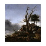 Halt of Travellers Giclee Print by Philips Wouwermans Or Wouwerman