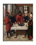 The Feast of the Passover, Detail from the Altarpiece of the Holy Sacrament, C.1464-68 Giclee Print by Dirck Bouts