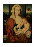 Holy Virgin with Sleeping Baby Jesus Giclée-Druck von Joos Van Cleve