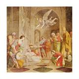 The Death of St. Cecilia, C.1614 Lámina giclée por  Domenichino