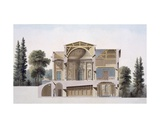 Cross Section of a Country House in Laeken, from 'Choix Des Monuments, Edifices Et Maisons Les… Giclee Print by Pierre Jacques Goetghebuer