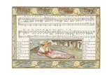Phillis on the New Made Hay', Song Illustration from 'Pan-Pipes', a Book of Old Songs, Newly… Giclee Print by Walter Crane