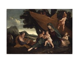 The Rest on the Flight into Egypt Giclee Print by Pietro Testa