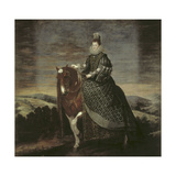Portrait of Queen Margarita on Horseback Giclee Print by Diego Rodriguez de Silva y Velazquez