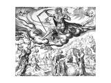 Melancholy, from 'The Four Temperaments' Series, Engraved by Harmen Jansz Muller, 1566 Giclee Print by Maarten van Heemskerck