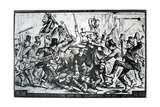 Cartoon Depicting the Riots in New York on St Patrick's Day 1867, Published in Harper's Weekly,… Giclee Print by Thomas Nast
