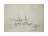 Hms Hermes in Company with the Pearl Off the Delta of the Zambesi, 10Am, 15th May 1858 Giclee Print by Thomas Baines